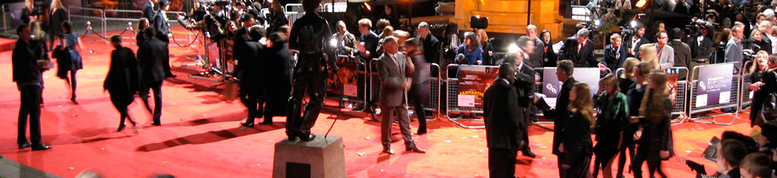 `Red Carpet - London Film Festival - Fantastic Mr. Fox` (https://www.flickr.com/photos/spiritquest/4012434113/) by spiritquest (https://www.flickr.com/photos/spiritquest/), used under CC BY (http://creativecommons.org/licenses/by/2.0/) / Cropped and recoloured from original.