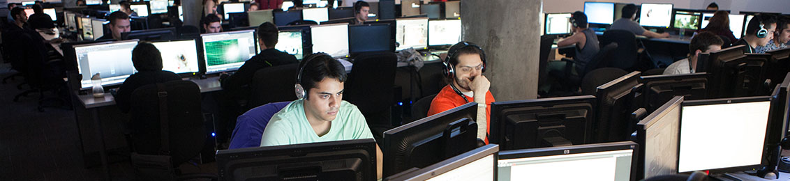 `VFS Animation & Visual Effect Campus` (https://www.flickr.com/photos/vancouverfilmschool/9675019272/) by Vancouver Film School (https://www.flickr.com/photos/vancouverfilmschool/), used under CC BY (http://creativecommons.org/licenses/by/2.0/) / Cropped and recoloured from original.