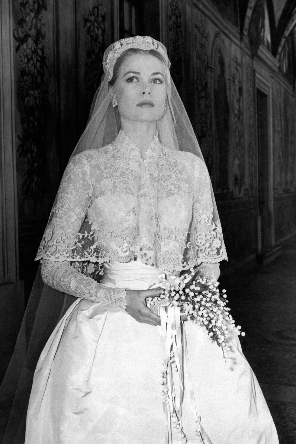 Grace Kelly's immaculate wedding dress