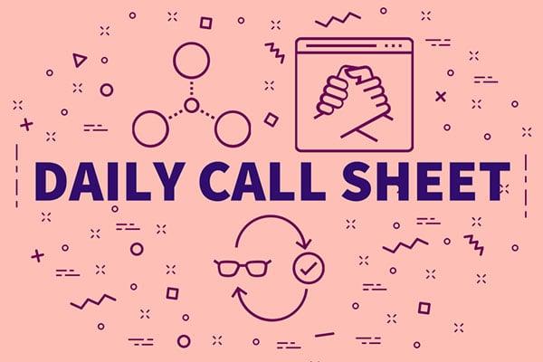 Daily call sheet