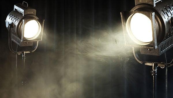 Film set lights