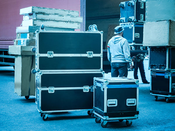 Load-in and load-out at venue