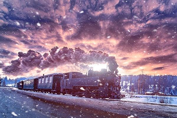 Mocănița steam train from Bucovina