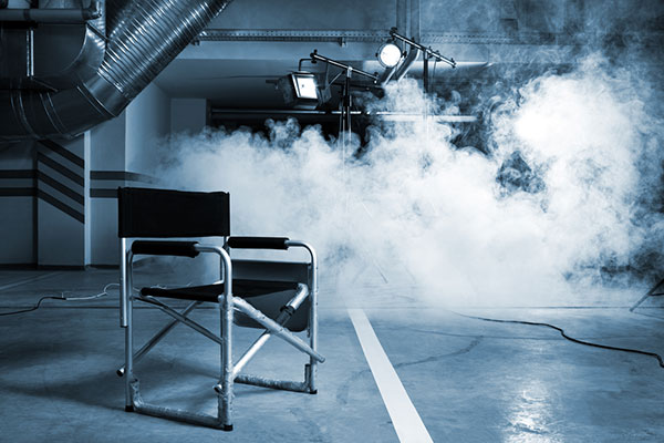 smoke on film set