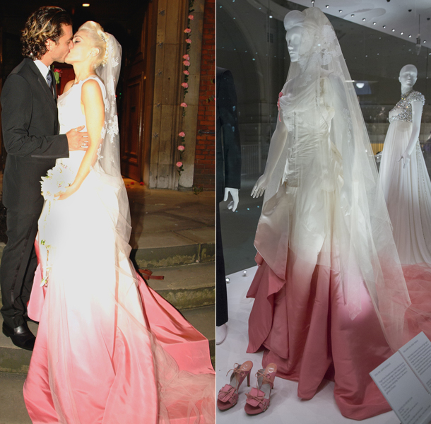 Gwen Stefani's creative wedding dress