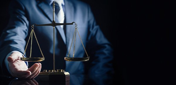 Lawyer with scales image