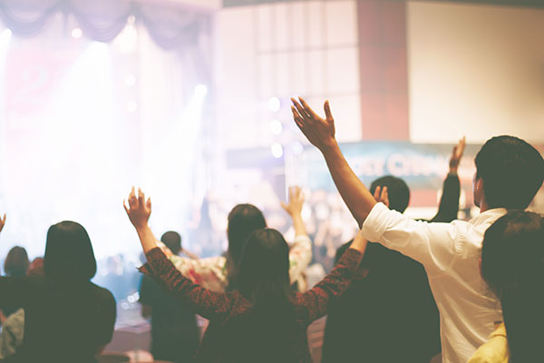 Church worship image